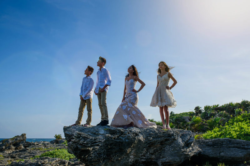 Occidental at Xcaret Family Pictures