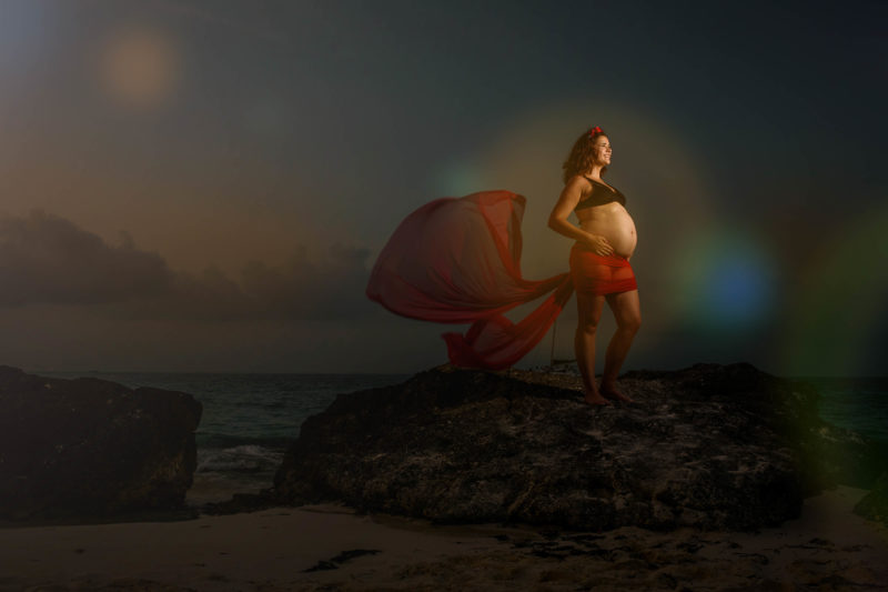 Riu Cancun Maternity Pictures