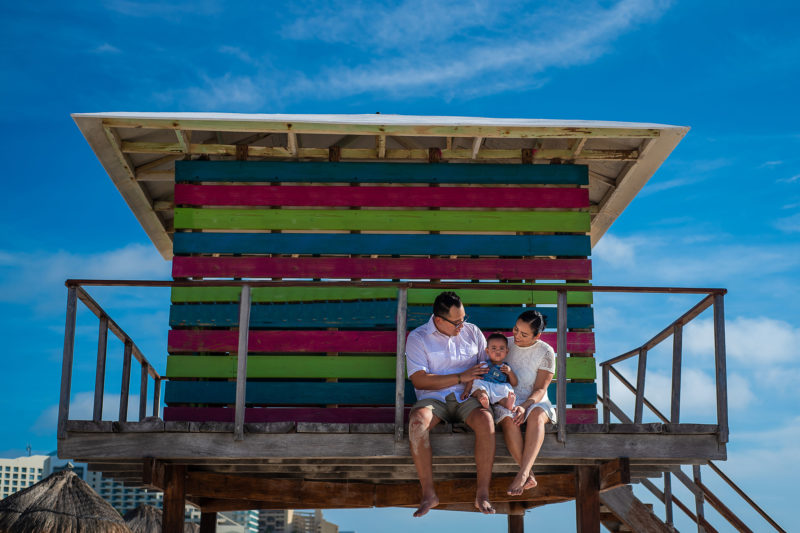 Playa Delfines Family Session in Cancun
